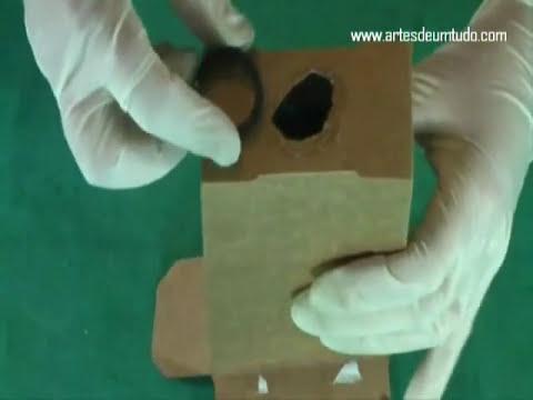 Como Fazer Filmadora de Caixa de Papelão - 02