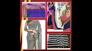 AMAZON affordable party wear saree 🤗reviews