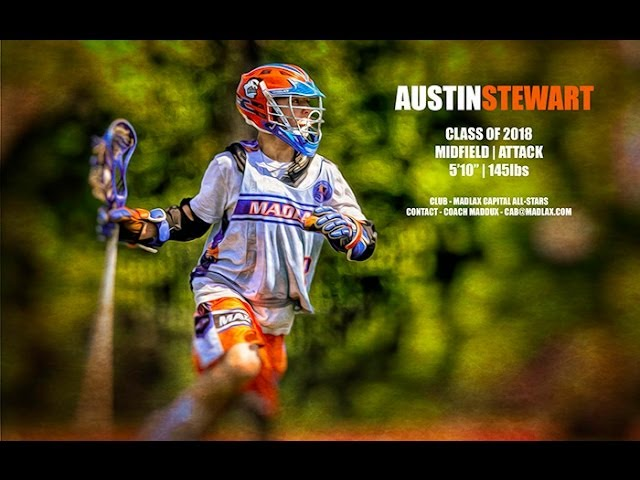 Austin Stewart - Class of 2018 - Midfield | Attack - Lacrosse Highlights 2013