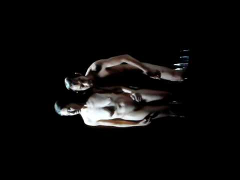 Royal Academy of Arts - Naked Japanese Man and Caucasian Woman in slow motion
