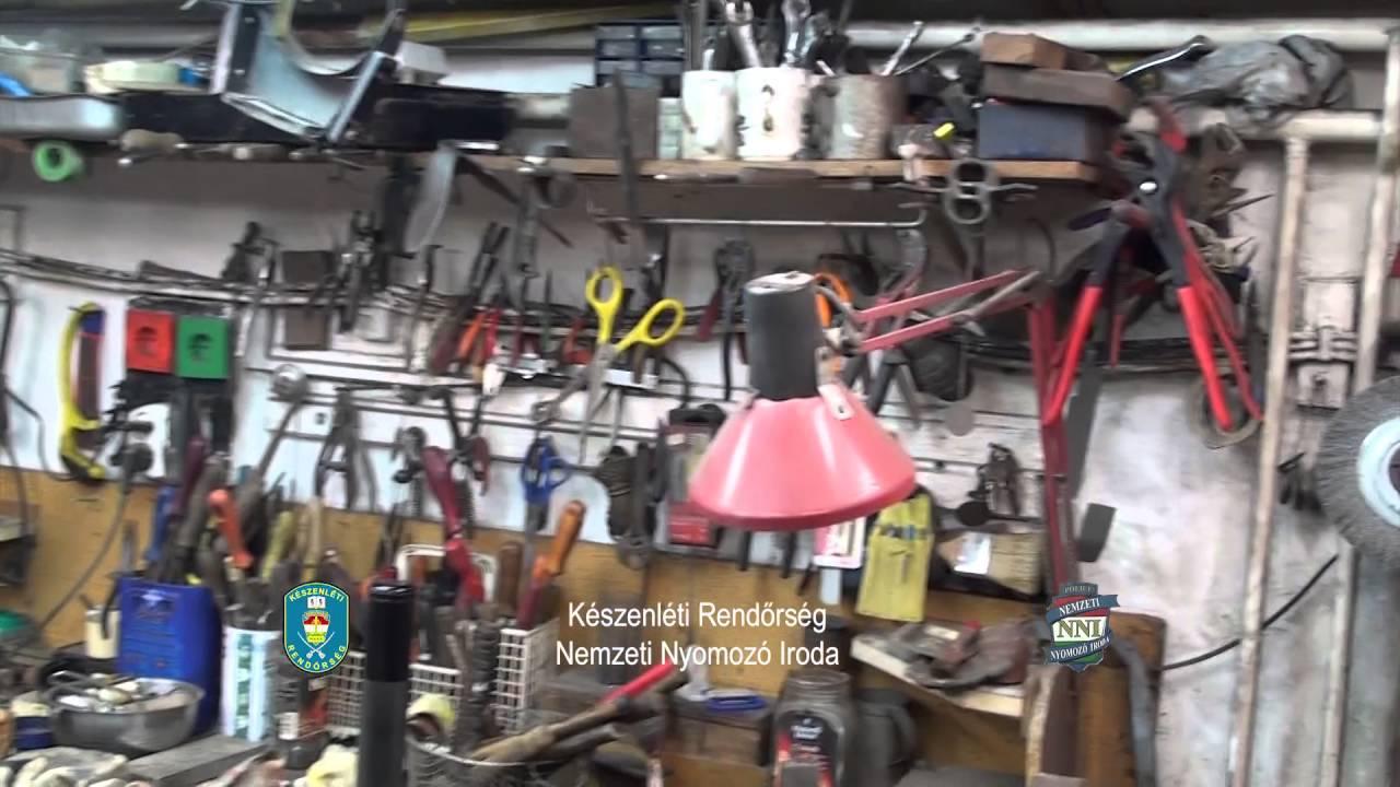 Robbanószereket, gránátokat találtak Budapesten - videó