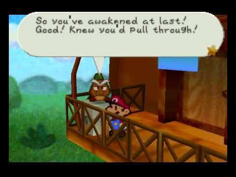 Paper Mario (BLIND) playthrough part 2: Talking To the Goomba Family