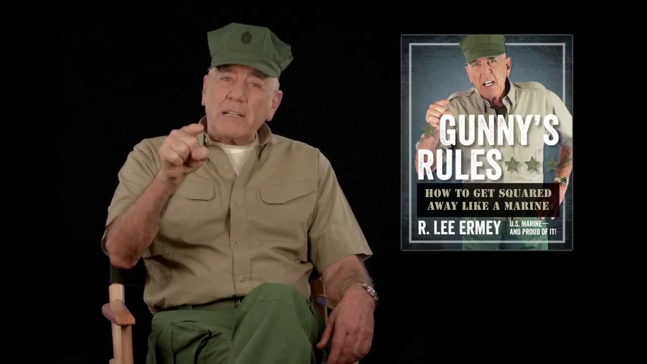 R Lee Ermey Yelling GUNNY S RULES