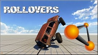 BeamNG Drive High Speed Rollovers #1