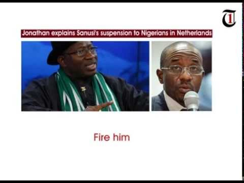 Jonathan explains Sanusi's suspension to Nigerians in Netherlands