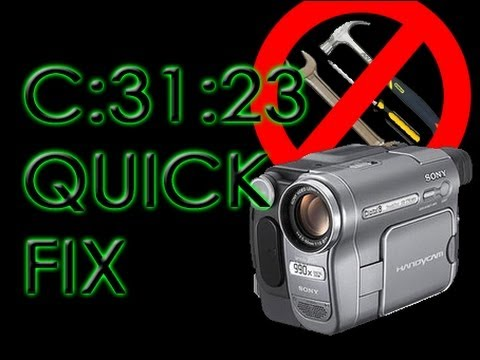 Sony Camcorder C:31:23 cassette error fixed quickly