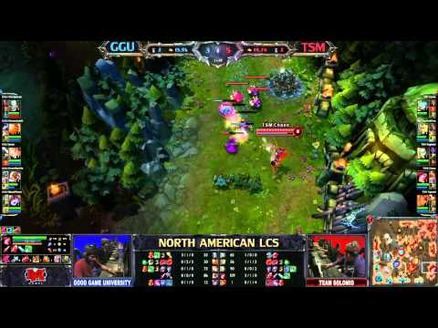 Good Game University (GGU) vs Team Solo Mid (TSM) - League of Legends LCS 2013 NA Spring W4D1