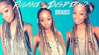 🔥DIY Fulani Inspired Braids ☀️Dirty Blonde Summer Style💁🏽