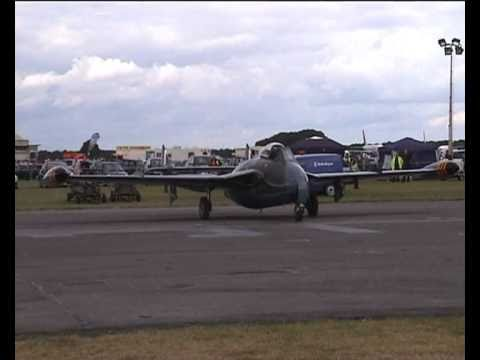 De Havilland VENOM 1950s jet fighter bomber
