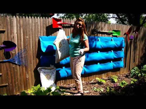 How To Install a Vertical Wall Garden With Shovel Art