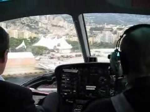 Arrive by Helicopter in Monte-Carlo, Monaco