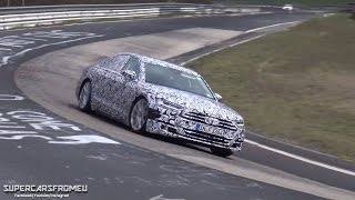 2018 Audi S8 Spied testing on the Nurburgring,Nordschleife!