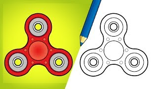 How to Draw Fidget Spinner - Step by Step