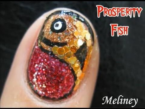 0 Chinese New Year Nail Art   Prosperity Fish Design for short nails