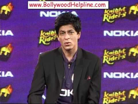 Shahrukh Khan Present For Association Between Kkr & Nokia For Ipl 4 video