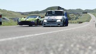 Ford Supervan III  V10  vs Supercars at Highlands