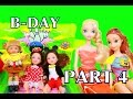 Frozen Toby Birthday B-DAY Party Amber Part 4 Anna Barbie SpongeBob Kelly Mickey AllToyCollector
