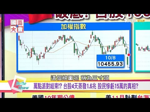 台灣-國民大會-20181009 萬點派對結束!? 台股4天蒸發1.6兆 股民慘虧15萬的真相?