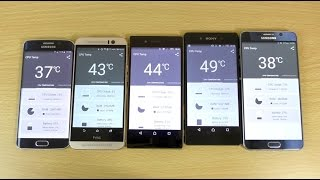 Heat Test - Sony Xperia Z5 VS Note 5 VS Xperia Z3+ VS S6 Edge VS HTC M9!