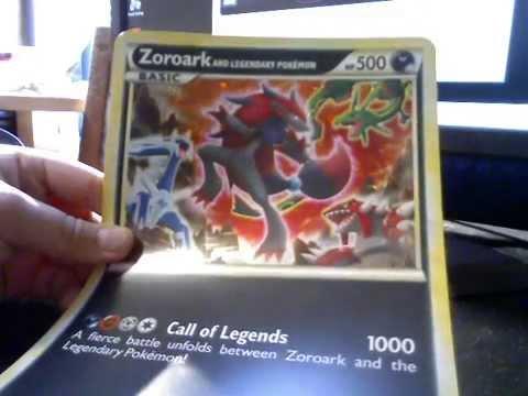 zoroark giant legendary pokemon card youtube