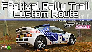 Forza Horizon 4 - Festival Rally Trail Custom Route - Ford RS200
