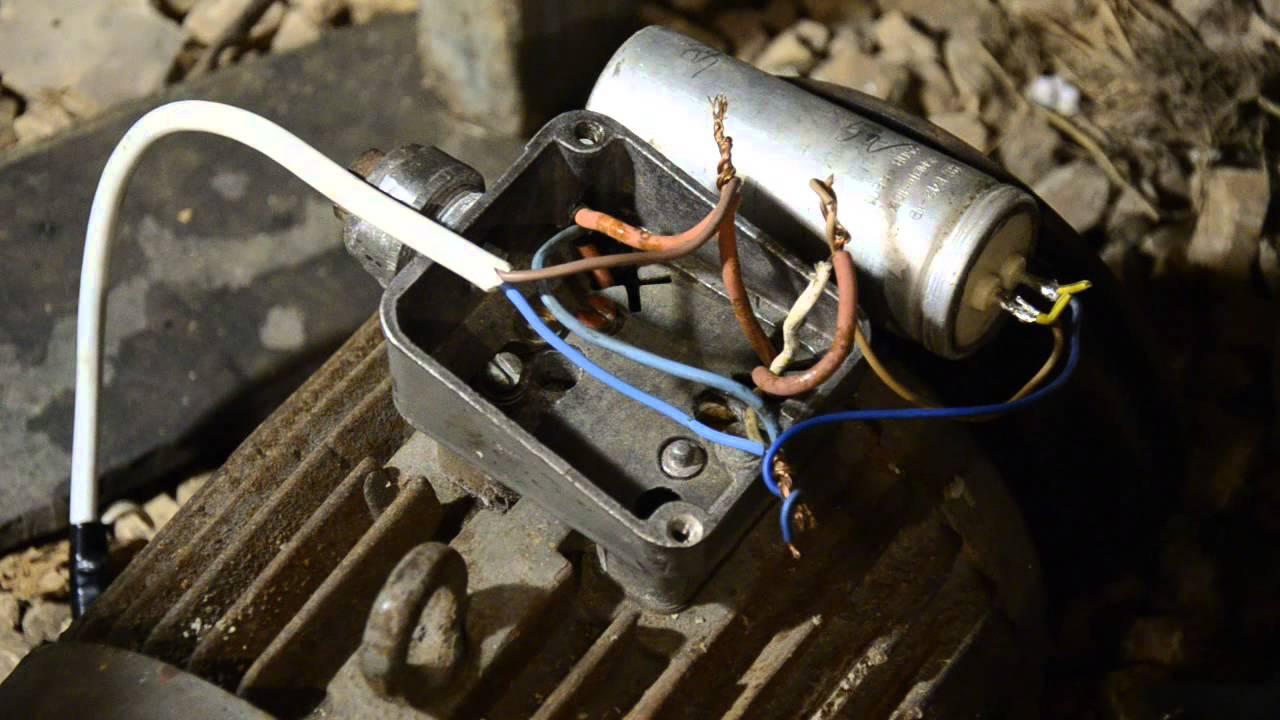 Двигатель 220 вольт схема