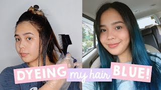DYEING MY HAIR BLUE! (Cheapest Hair Dye?) | darleneslays