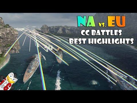 Best World of Warships NA vs. EU CC Battle Highlights