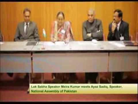 Honorable Speaker Smt. Meira Kumar meets Ayaz Sadiq, Speaker national Assembly of Pakistan