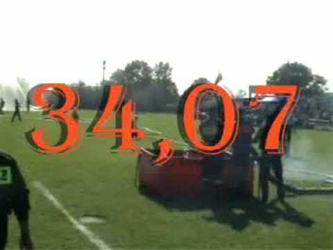 zawody powiatowe  OSP Ruszków 2009 34,07sek.