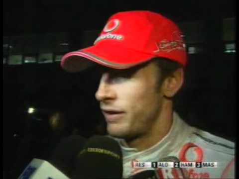 Jenson Button Interviw.South Korea F1 GP 2010 After Race Interview