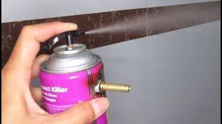 DIY Compressed air can ,  Amazing water spray from mosquito killer can