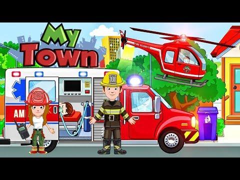 ТУШИМ ПОЖАР и СПАСАЕМ КОТЕНКА Пожарная Машина Скорая Помощь Игровой мультики для детей KIDS CHILDREN
