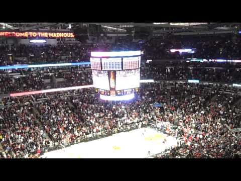 Luol Deng Hits The Game Winner for the Chicago Bulls (January 3rd, 2011) View from the Stands