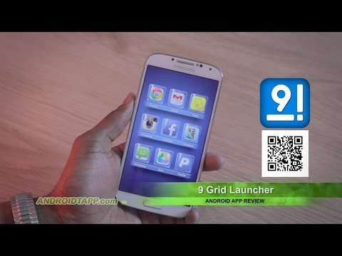 9 Grid Launcher Android App Review