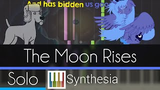 The Moon Rises - |SOLO PIANO TUTORIAL w/LYRICS| -- Synthesia HD