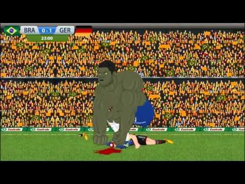 Brazil 1-7 Germany Parodia