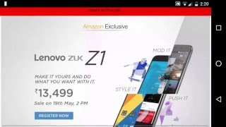 Script for buy Lenovo zuk z1 Successfully in amazon flash sale [ANDROID]
