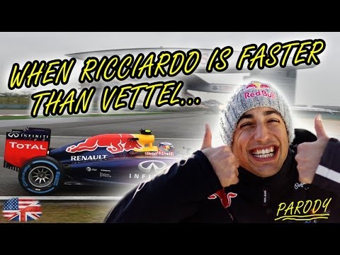 F1 2014 | When Ricciardo is faster than Vettel [PARODY] - English/HD