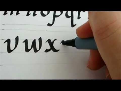 Alphabets stylish writing