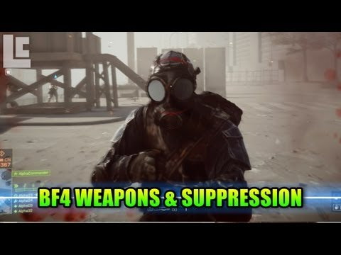 BF4 Weapon Classes & Suppression (Battlefield 4 Gameplay/Commentary/Alpha/E3) E3M13