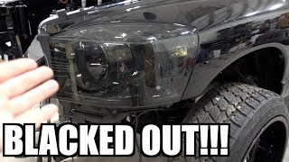 BLACKED OUT Headlights & Taillights & AWESOME Tool additions!!!
