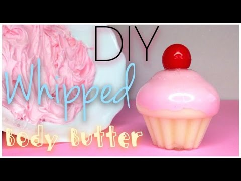 DIY Moisturizing Whipped Body Butter in a CUPCAKE