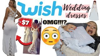 I BOUGHT WISH WEDDING DRESSES FOR $10 | THIS WAS A SHOCK!!!!