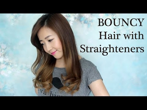 BOUNCY Hair With Straighteners