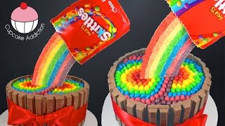 Skies Rainbow Cake! How to make a Skies Cake - Cupcake Addiction & Cupcakes & Cardio!