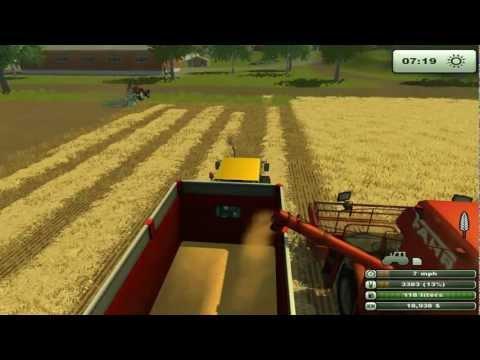 jugando farming simulator 2013 parte 2 (cultivando el campo)