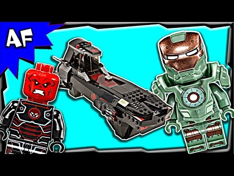Lego Marvel Avengers Assemble IRON SKULL SUB ATTACK 76048 Stop Motion Build Review