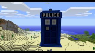 Doctor Who TARDIS in Minecraft
