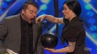 America's Got Talent 2016 Ryan Stock Comedic Carnival Daredevil Full Audition Clip S11E01